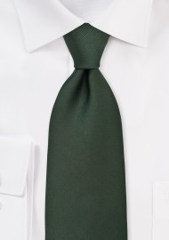 Solid Silk Tie in Hunter Green