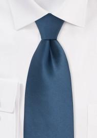 Steel Blue Silk Tie for Kids