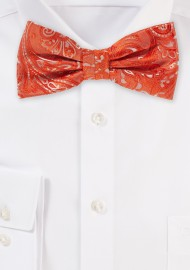 Tiger Lilly Orange Bow Tie