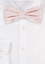 Bridal Pink Paisley Bow Tie