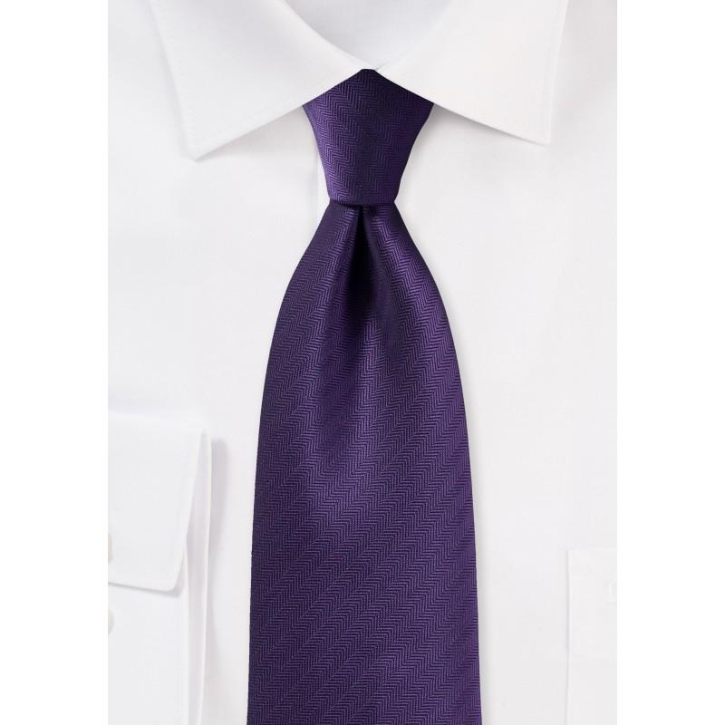 Herringbone Tie in Regency Purple