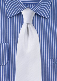 Herringbone Tie in White