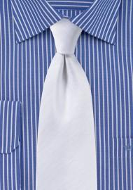 Herringbone Tie in White