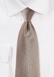 Herringbone Tie in Bronze Gold
