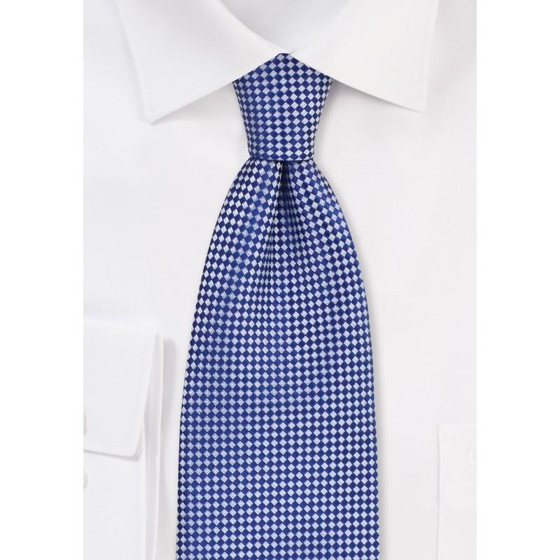 Royal Blue and Silver Diamond Tie