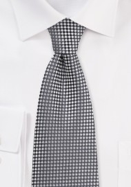 Two Toned Diamond Tie in Graphite