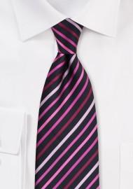 Kids Necktie in Black Pink Rose