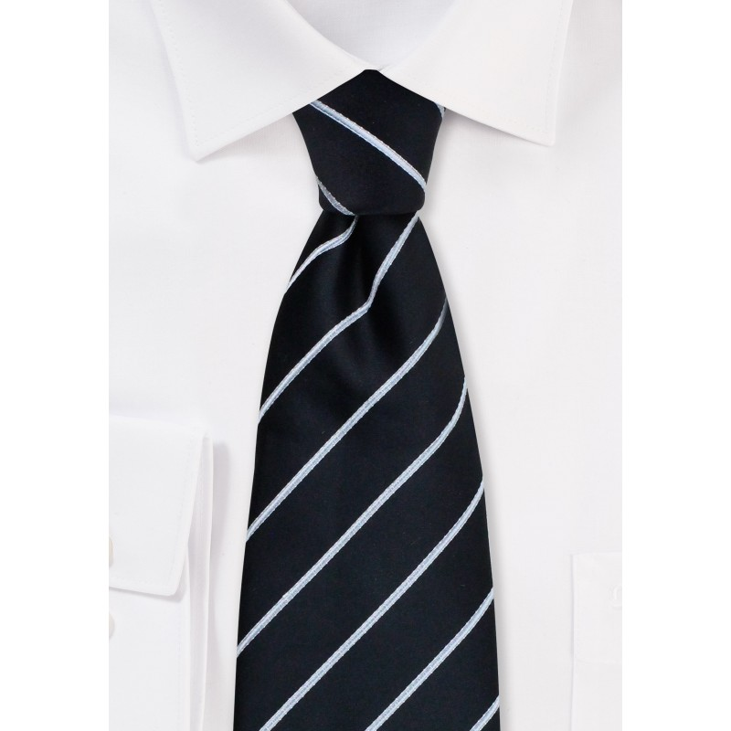 Formal neckties - Striped black necktie