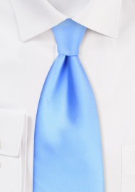 Solid Mens Tie in Capri Blue