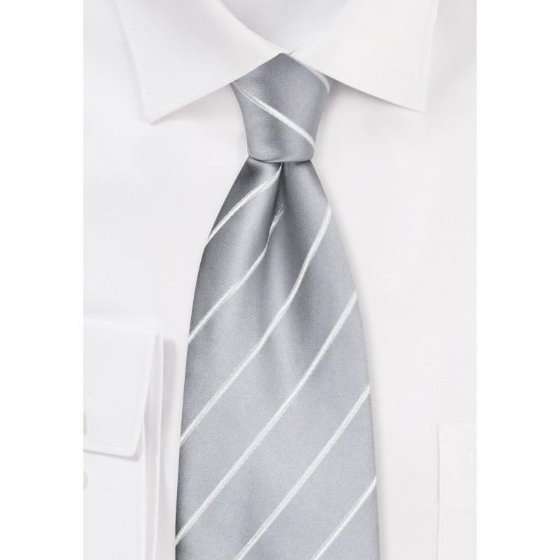Silver neckties - Gray-silver men's tie