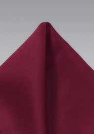 Satin Pocket Square in Wine Red