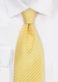 Yellow Striped Tie in Extra Long Length