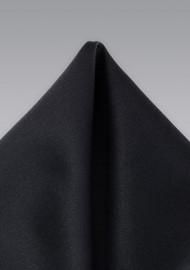 Solid Black Pocket Square