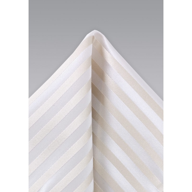 Festive Ivory Color Silk Hanky