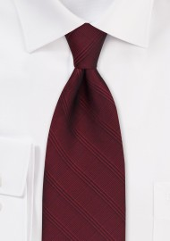 Extra Long Plaid Tie in Cordovan Red