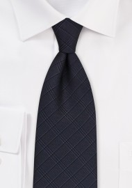 Smokey Charcoal Plaid Tie