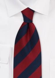 Regimental Tie in Red and Navy