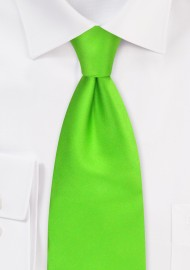 Bright Lime-Green Silk Tie