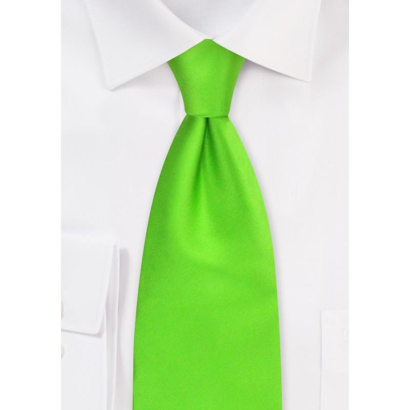 Bright Lime-Green Silk Tie