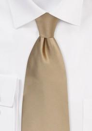 Light Brown Necktie in XL