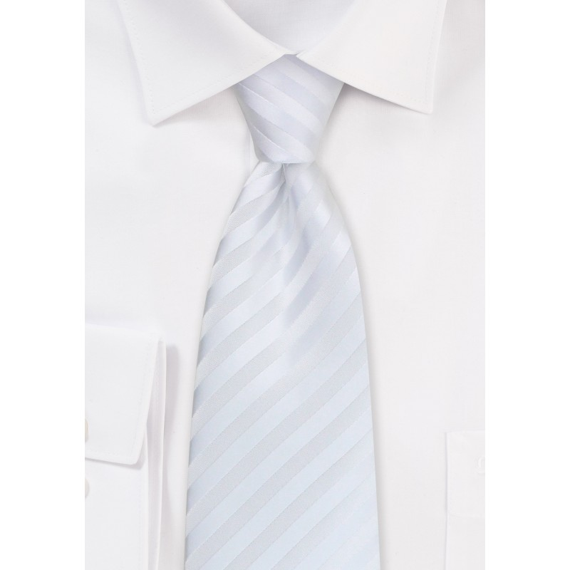 Classic white tie - White necktie made from stain-resistant microfiber