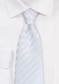 Bright White Kids Tie