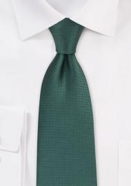 Textured Tie in Mallard Green