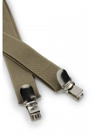 Light Brown Elastic Band Suspenders Clips