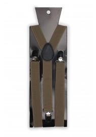 Light Brown Elastic Band Suspenders Packaging