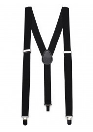 Formal Jet Black Suspenders