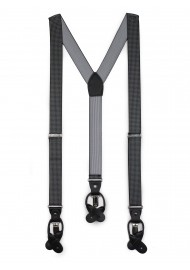 houndstooth check mens suspender in dark gray