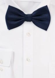 Matte Bow Tie in Dark Navy