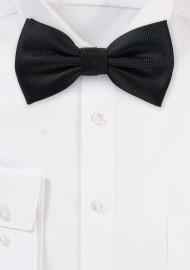 Matte Textured Bow Tie in Black