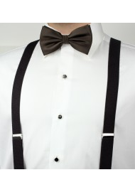 Coffee Brown Men's Bow Tie Styled