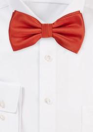 Dark Orange Bow Tie