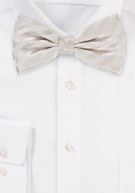 Formal Ivory Bow Tie in Pre Tied Style