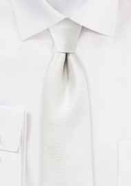 Ivory Skinny Tie with Matte Texture