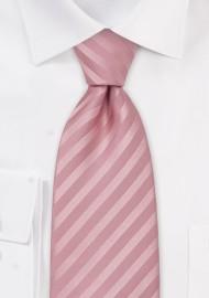 Rose-Pink Silk Tie in XL Length