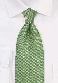 Kids Textured Green Tie