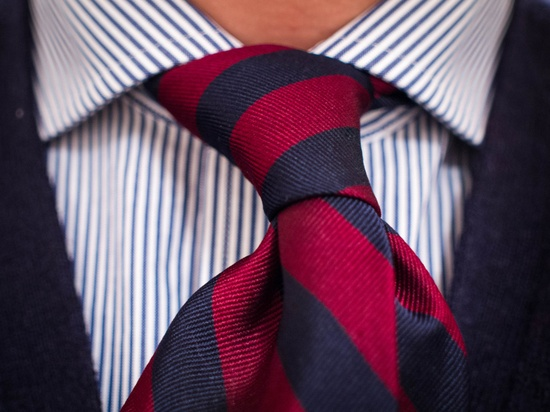 Match your necktie for Striped tie with striped shirt