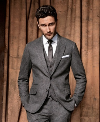 b7a7faf5b64 Stylish examples for three piece suits png 346x421 Charcoal black pocket  square grey suit