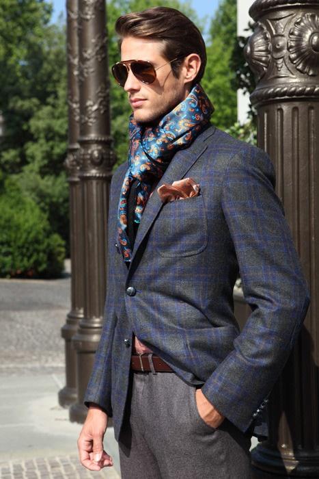 Handmade Silk Scarves - Men's Silk Designer Scarves