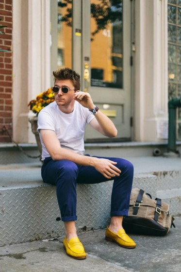 Menswear_Yellow_Loafers