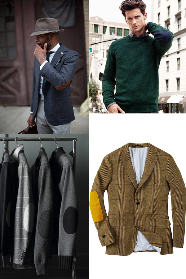 Menswear Jacket Elbow Patches