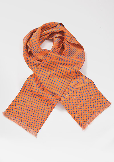 Patterned Scarf in Oranges