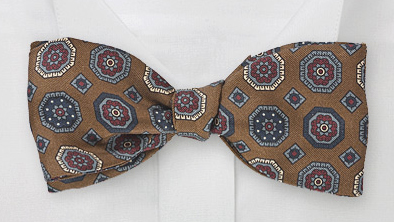 Patterned Self Tie Bow Tie