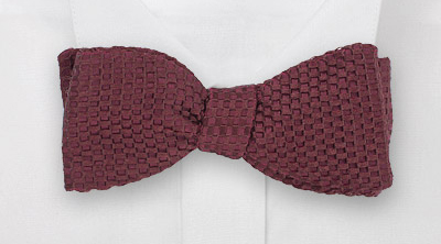 Burgundy Self-Tie Bow Tie