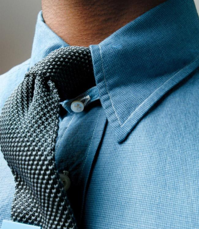 Knit Tie Gray
