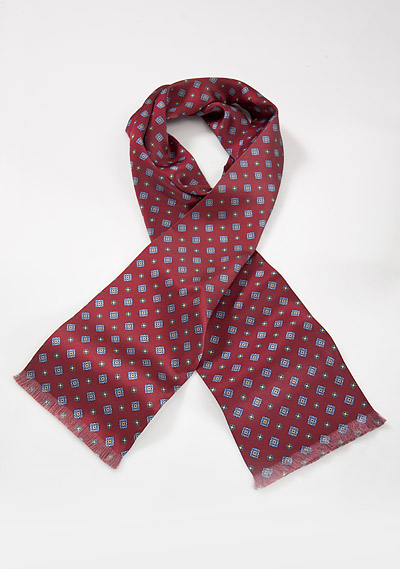 Silk Scarf in Burgundy