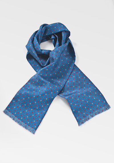 Designer Mens Scarf in Blue